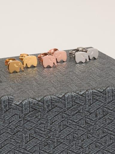Titanium Elephant Cute Stud Earring