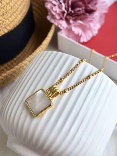 Golden(white) Copper Malchite Necklace