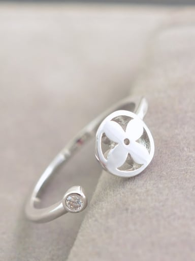 Alloy Flower Minimalist  Free Size Ring