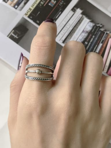 925 Sterling Silver Irregular Vintage Stackable Ring