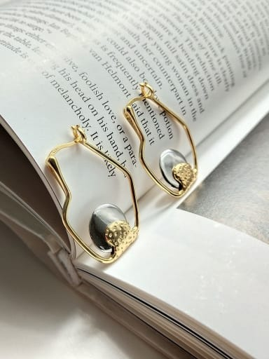 925 Sterling Silver  Vintage U-Shaped Bottle Irregular Earrings (Single) Hook Earring