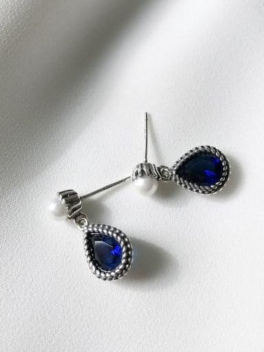 925 Sterling Silver Cubic Zirconia Water Drop Minimalist Drop Earring