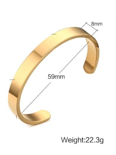 8mm diameter: 59cm Titanium Geometric Minimalist Bracelet