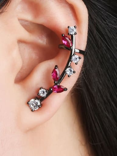 Black gold color matching zirconium Copper Cubic Zirconia Water Drop Dainty Ear Cuff Earring