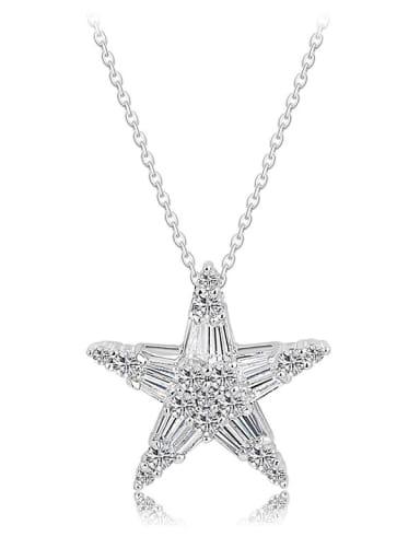 Copper Cubic Zirconia  Dainty Pentagram pendant Necklace