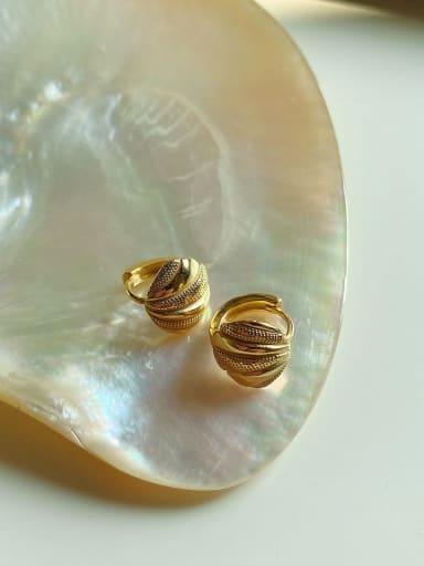 925 Sterling Silver Irregular Vintage Stud Earring