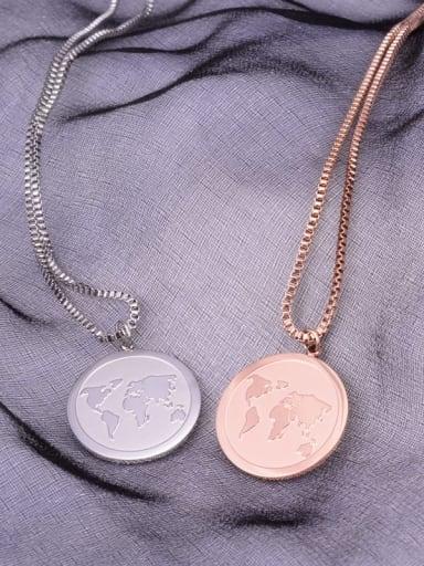 Titanium Round Minimalist Choker Necklace