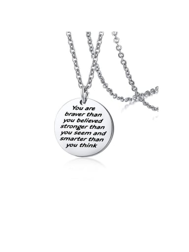 Style 3 Stainless Steel With Minimalist round card Necklaces