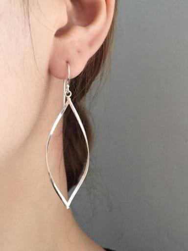 925 Sterling Silver Geometric Minimalist  Double Twist Drop Earring