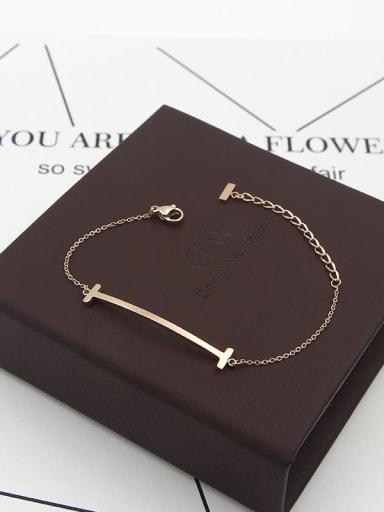 Titanium Letter Minimalist Bracelet