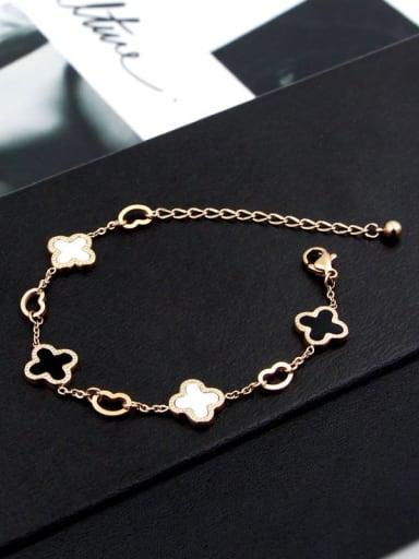 Titanium Shell Rosary Dainty Bracelet