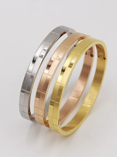 Titanium Middle yarn  Minimalist Band Bangle