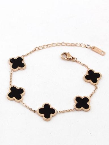 Titanium Shell Flower Classic Link Bracelet