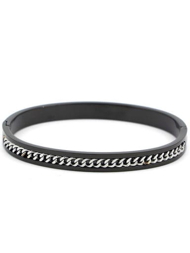 Titanium Smooth  Minimalist Band Bangle