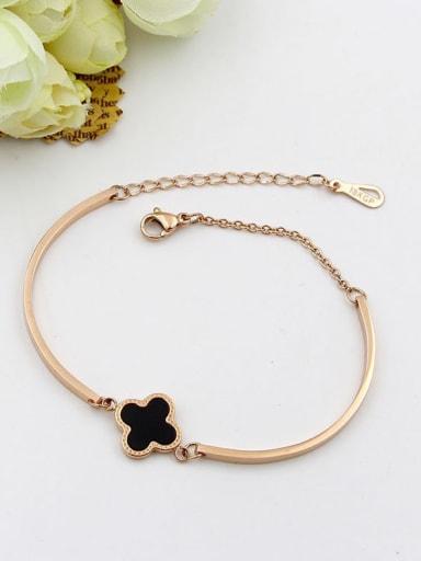 Titanium Agate Flower Minimalist Bracelet