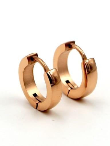 Titanium Round Minimalist Hoop Earring