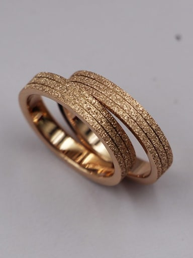 Titanium Grinding yarn Geometric Minimalist Band Ring