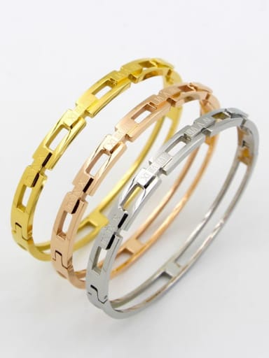 Titanium Number Dainty Band Bangle