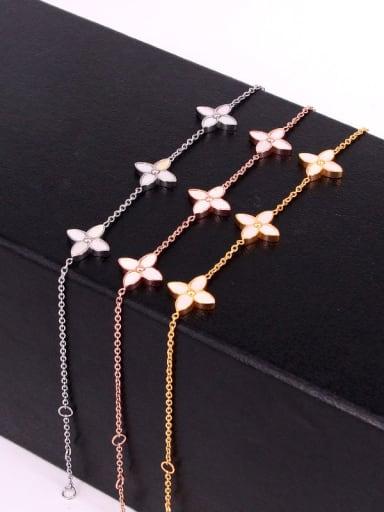 Titanium Flower Dainty Bracelet