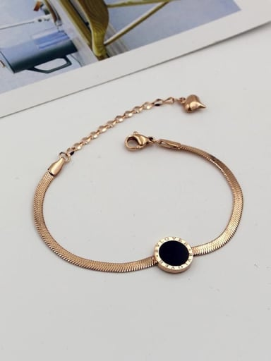 Titanium Snake Minimalist Link Bracelet