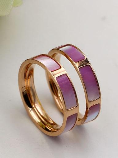 Titanium Shell Rectangle Minimalist Band Ring