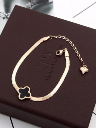 Titanium Clover Classic Bracelet