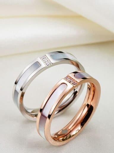 Titanium Shell Geometric Classic Band Ring