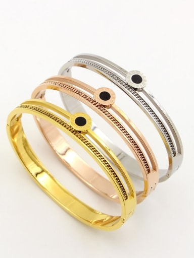 Titanium Number Minimalist Band Bangle