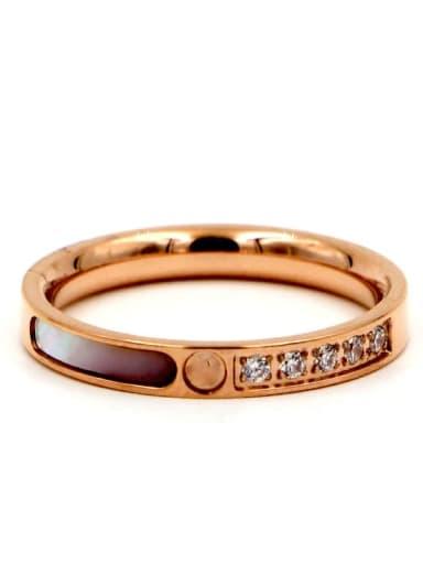 Titanium Shell Geometric Minimalist Band Ring