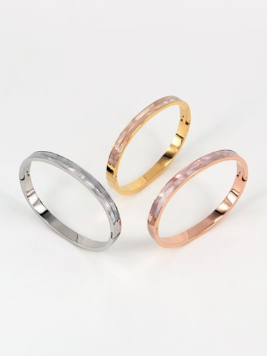 Titanium Shell Geometric Minimalist Band Bangle