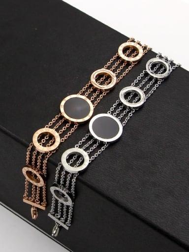 Titanium Smooth  Rosary Minimalist Bracelet