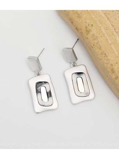 Dumb Silver Copper Geometric Vintage Drop Earring