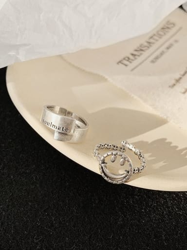 Alloy Face Trend Band Ring