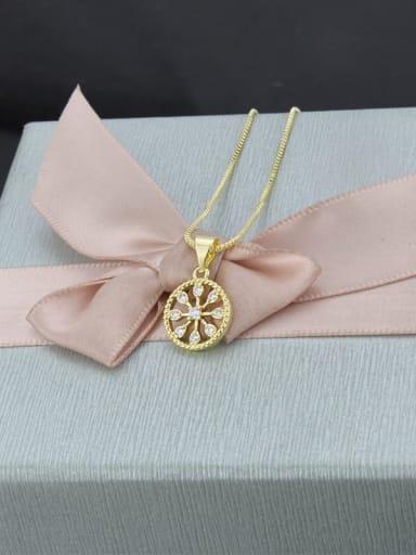Round MinimBrass Rhinestonealist Necklace