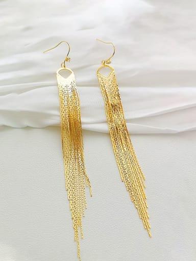 Copper Tassel Dainty Drop Earring