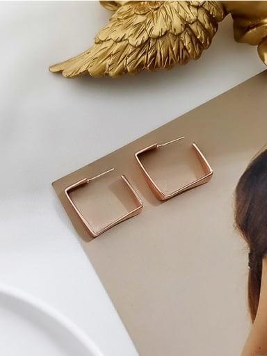 rose gold Copper Geometric Minimalist Stud Earring