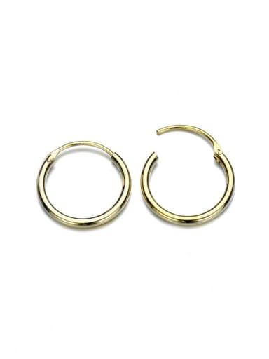golden Stainless steel Round Minimalist Hoop Earring