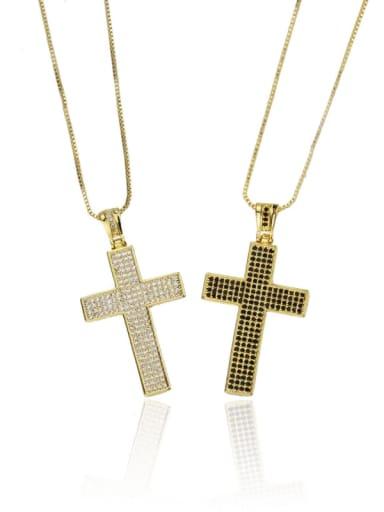 Brass Cubic Zirconia Religious Dainty Necklace