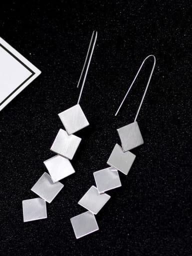 Copper Tassel Minimalist Drop Earring