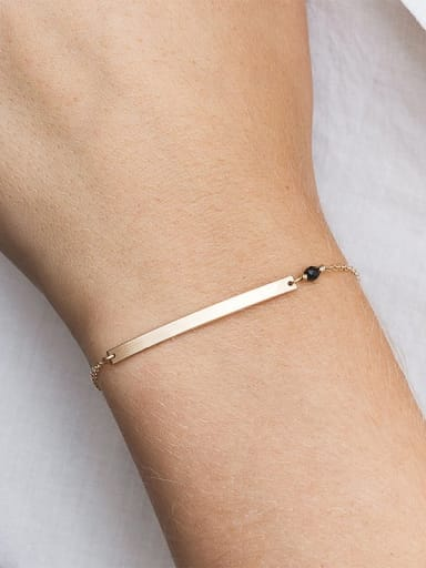Stainless steel Geometric Minimalist Identification 15mm+ 3mm Bracelet