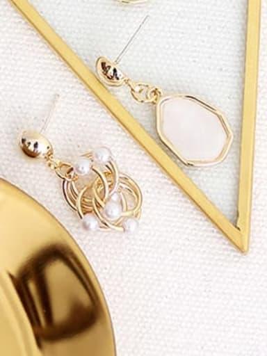 Off white Copper Resin Geometric Bohemia Drop Earring