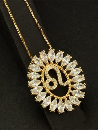 leo Brass Cubic Zirconia Constellation Dainty Necklace