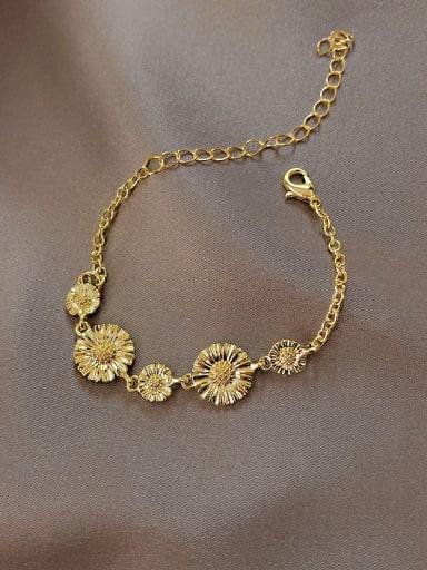 Alloy Flower Trend Charm Bracelet