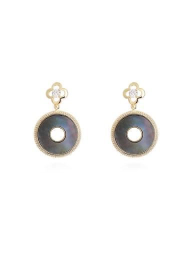 Copper Shell Geometric Vintage Drop Earring