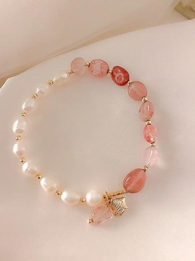 Alloy Imitation Pearl Irregular Ethnic Adjustable Bracelet