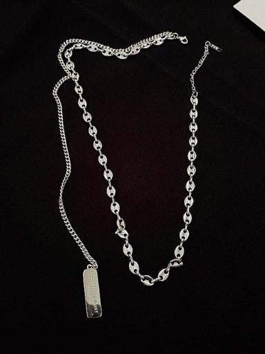 Brass Geometric Trend Link 50 cm + 2cm Necklace