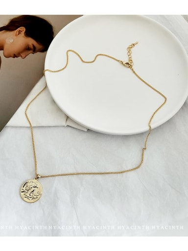 Copper Alloy Geometric Trend Necklace