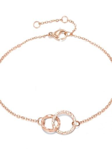 rose gold Stainless steel Round Minimalist Chain