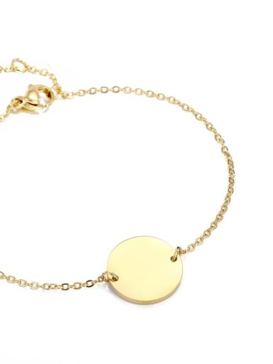 gold Color customize Stainless steel round 15cm Bracelet