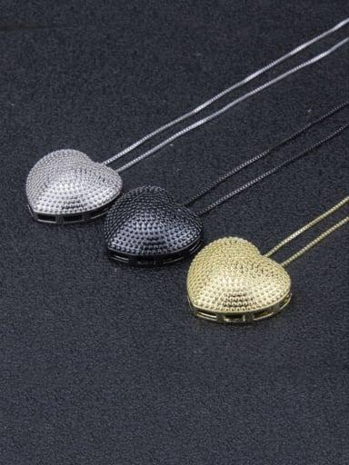 Brass  Smooth Heart Minimalist  Pendant  Necklace